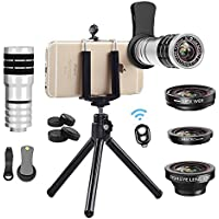 Cell Phone Camera Lens Kit, Vorida Universal 12X...