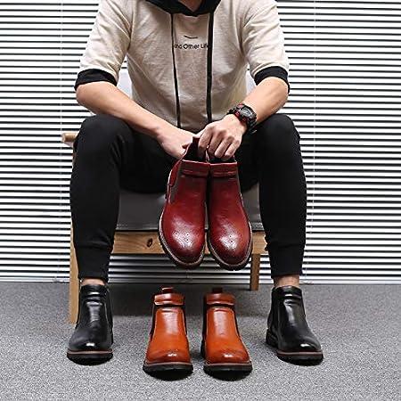 Parcclle Zapatos de traje para hombre, zapatos de piel con cordones, zapatos Oxford, esmoquin, piel de charol para boda, brogue159