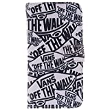 AOFad Wiko Rainbow Case Wallet Cover White Kickstand Video Screen Protector PU Leather and TPU (2-in-1) Protective Cell Phone 2nd Series With Cartoon letters Pattern Fit For Women and Men 5