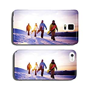 Group of Snowboarders on Top of the Mountain cell phone cover case iPhone6
