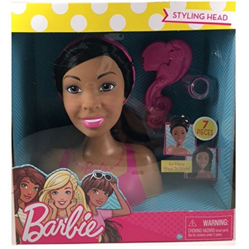 : Barbie Doll Styling Head, 7 Piece small -African American