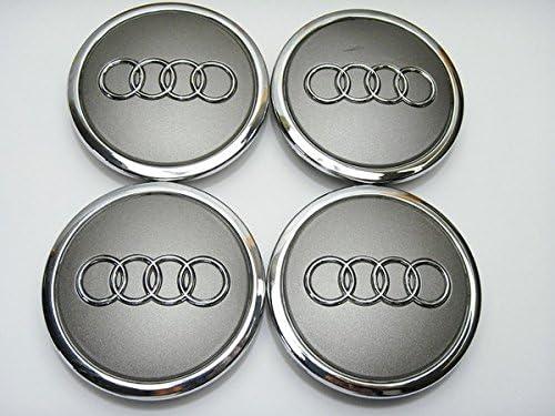 Hub Caps 4B0601170/A for Audi Wheel Centre Caps Hub Covers 69/mm Grey Metal New//Wheel Centre Caps New//69/mm for Audi 4B0/601/170/A