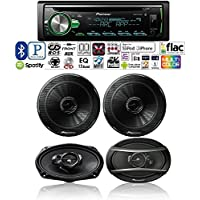 Pioneer DEH-S5000BT single din Bluetooth iPhone CD/AM/FM/USB Pioneer TS-G1645R 6-1/2 2-way 250W + Pioneer TS-A6966R 420W 6x9 3-way Speakers