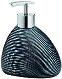 Kela Liquid Soap Dispenser Moiree Collection, Charcoal