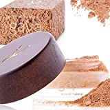 Mineral Foundation Vegan Makeup Powder - Unique 4 IN 1 MF4 Shade 100% Natural Multipurpose Full Coverage For All Skin Types - Foundation, Concealer, Powder & Sunscreen In a 9gr Jar