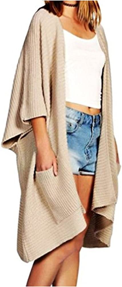 OgLuxe Women's Ladies Oversized Baggy Long Chunky Knitted Cosy Cardigan