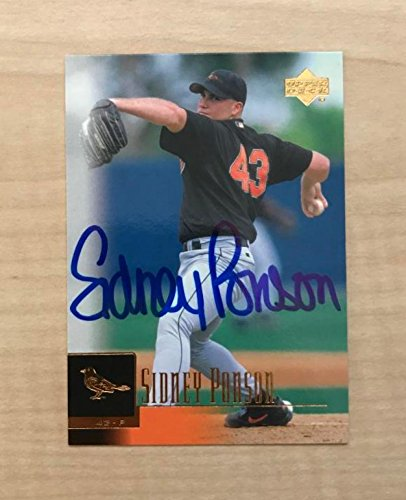 SIDNEY PONSON BALTIMORE ORIOLES SIGNED AUTOGRAPHED 2001 UPPER DECK CARD#94 W/COA