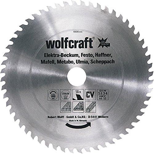 Wolfcraft CV-Tischkreissägeblätter Serie ''rot'' 250x30mm 56Z CV
