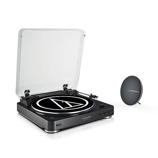 Audio-Technica Tocadiscos AT-LP60SPBT Bundle Negro con Altavoz ...