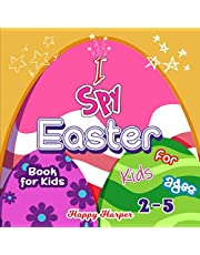 I Spy Easter Book For Kids: A Cute and Fun Easter Activity Game Book For Toddlers and Preschoolers Ages 2-5 To Learn The Alphabet With Guessing and Coloring!