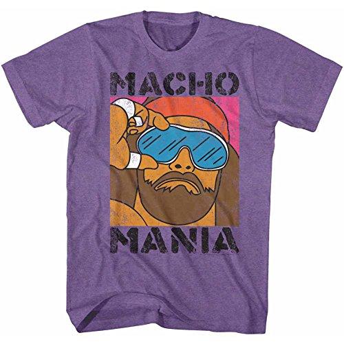 Maglietta Wwf Classics Wrestler Mania American Musclor per uomo 1980 Du Heavywe qa18AI