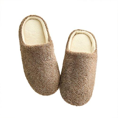 Marrone Pantofole Inverno A Ciabatte Viola Unisex Per In Ed Morbide Luoem Antiscivolo wIPqdBP