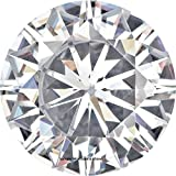 6.5 MM Round Brilliant Cut Forever Brilliant® Moissanite by Charles & Colvard 57 Facets - Very Good Cut (0.88ct Actual Weight, 1.00ct. Diamond Equivalent Weight)