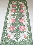 Hawaiian quilt wall hanging table runner 100% hand quilted/hand appliqued Hawaiiana