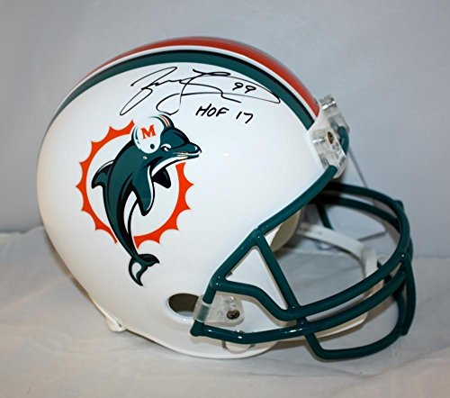 (Jason Taylor Autographed Full Size Miami Dolphins 97-12 Helmet- JSA W Hall of Fame 17 Ins)