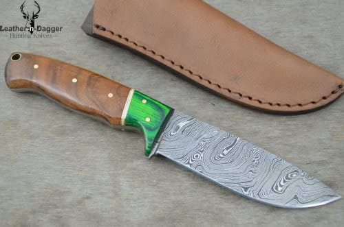 Leather-n-Dagger Huge Sale Professional Custom Handmade Damascus Steel Hunting Knife Great Gift Ld160