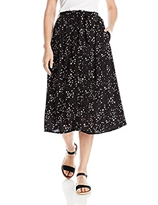 Angie Women's Star Printed Midi Skirt with Tie Waist
