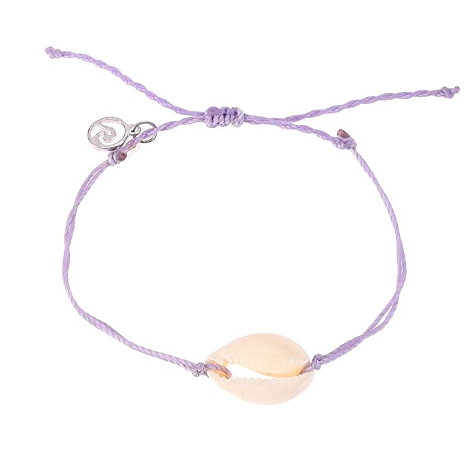 Amazon.com: Pulsera ajustable de concha natural tejida a ...