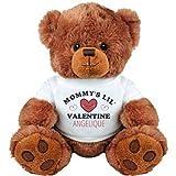 Cute Mommy's Valentine Bear For Angelique: Medium Plush Teddy Bear