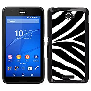 Stuss Case / Funda Carcasa protectora - Modelo blanco Negro Animal África; - Sony Xperia E4