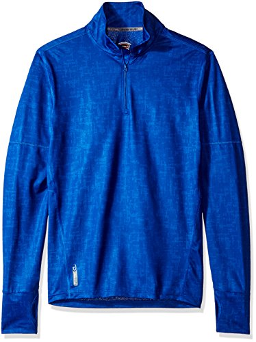 Duofold Men's Light Weight Thermatrix Performance Thermal Quarter Zip Pullover, Surf the Web Glitch Texture, L