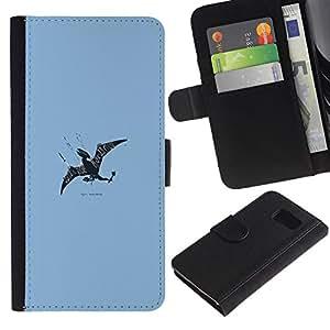 LECELL--Cuero de la tarjeta la carpeta del tirón Smartphone Slots Protección Holder For Sony Xperia Z3 Compact -- Flying Dragon --
