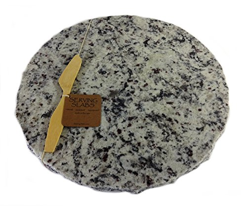 Granite Green Tray (Serving Slabs Lazy Susan, Medium White, 14