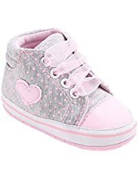Baby Girls Toddler Lace up Sneaker Anti-Slip Boots Crib Shoes