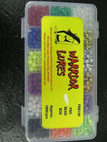 WARRIOR PRO BEAD BOX APPROX 1800PCS CRAWLER HARNESS WALLEYE