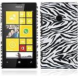 Cadorabo - TPU Hard Cover per Nokia Lumia 520 - Case Cover Involucro Bumper Accessorio in Design: ZEBRA