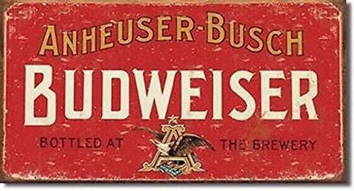 Weytff Budweiser Anheuser Busch Vintage Style Metal Sign 12x8 Inch Plaque Beer Pub Art