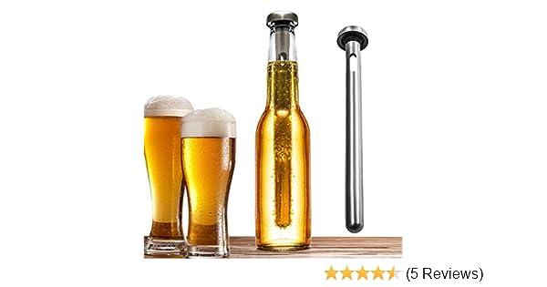 PACK Stainless Steel Beer Chiller Stick Beverage Cooler Cooling Sticks 2