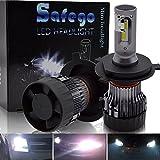 H4 9003 LED Headlight Bulb Hi/Lo Beam Conversion Kit SAFEGO 60W 6500K Cold