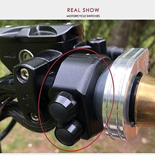 JPLJJ 22mm 25mm オートバイ スイッチ ハンドルバー マウントスイッチ ヘッドライト フォグライトON OFF スタート キル ホーン リセット ボタン (色 : Model A 25mm)