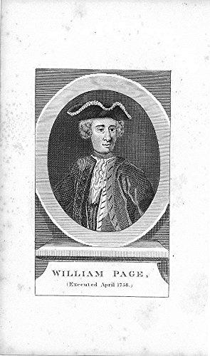 1820 Original Antique - William Page executed 1758 fine 1820 original antique engraved folk art portrait