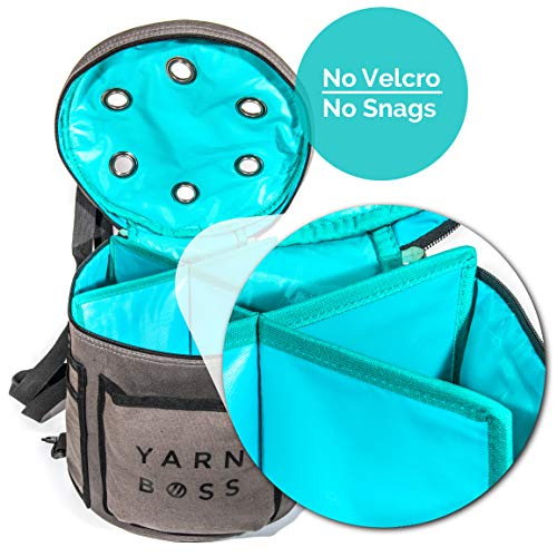 Yarn Boss Yarn Bag, Travel With Yarn and all Notions - Yarn Storage To Organize Multiple Projects and Keep Your Yarn Safe and Clean - Wide Grommets Stop Tangling for Best Crochet Bag or Knitting Bag by Yarn Boss (Image #2)