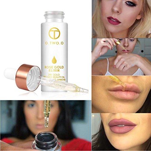 Hunputa 24k Rose Gold Elixir Skin Make Up Oil Infused Beauty
