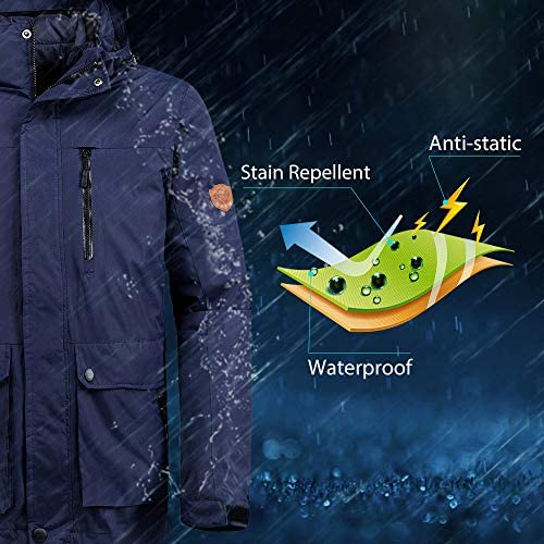 Wantdo Men's Waterproof 3-in-1 Ski Jacket Warm Winter Snow Coat Windproof Rain Jackets Snowboarding Jackets