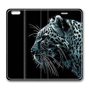 Brain114 6, iPhone 6 Case, iPhone 6 4.7 Case, Dark Leo PU Leather Flip Protective Skin Case for Apple iPhone 6 4.7