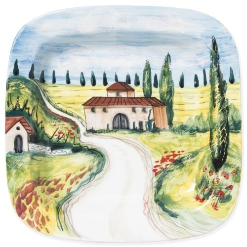 Earthenware Square Plates - Landscape Wall Plates Villas Square Wall Plate