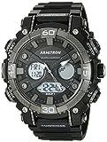 (US) Armitron Sport Men's 20/5108BLK Analog-Digital Chronograph Black Resin Strap Watch