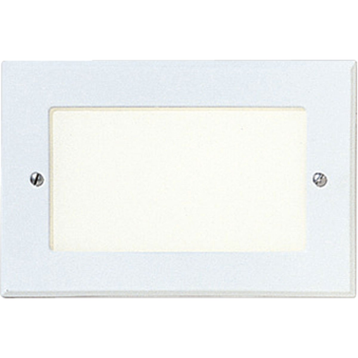 Progress Lighting P6824-30 1 Metal Housing with 2 Shatter-Resistant Faceplates For Both Sides Of Stud Wall with 3-1/2-Inch To 4-1/2-Inch For Indoor and Protected Outdoor Use, White