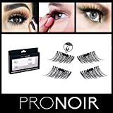 ProNoir Premium 3D Magnetic False Eyelashes - 2 PAIRS 1 SET - Ultra-Thin Reusable One Two Fake Lash Extensions - Easy To Use, NO GLUE Pain Free - Chemical Free & Cruelty Free uses Synthetic Fibers