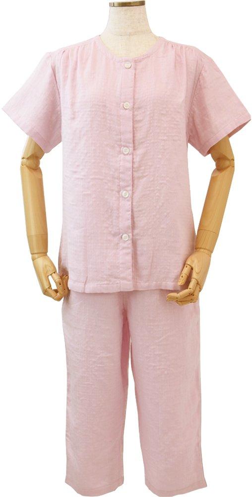 UCHINO マシュマロガーゼ レディース 半袖パジャマ (S) ピンク RPS14027 S P B01FDAUWEA Small ピンク ピンク Small