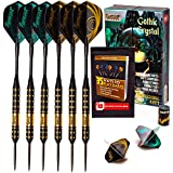 Ignat Games Steel Tip Darts - Professional Darts Set with Aluminum Shafts and Flights + Dart Sharpener + Innovative Case