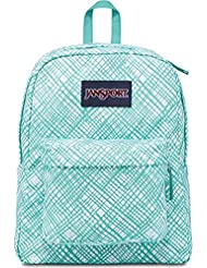 Jansport Classic SUPERBREAK BACKPACK - Aqua Dash Jagged Plaid