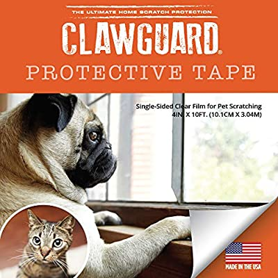 Cat scratching CLAWGUARD Protection Tape – Durable Single-Sided Shield... [tag]