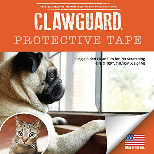 (CLAWGUARD Protection Tape - Durable Single-Sided Shield Protection Against Cat & Dog Scratching Furniture, Couch, Window Sill, Car Door, Glass & More!)