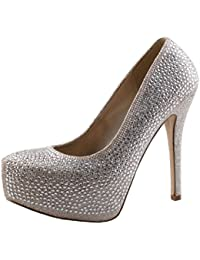 Women's Kinko-5 Glitter Rhinestone Sparkle Stiletto Heel Platform Pumps