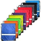 Drawstring Backpack Reflective Bags - Reflective Backpack Cinch Sacks Bulk...